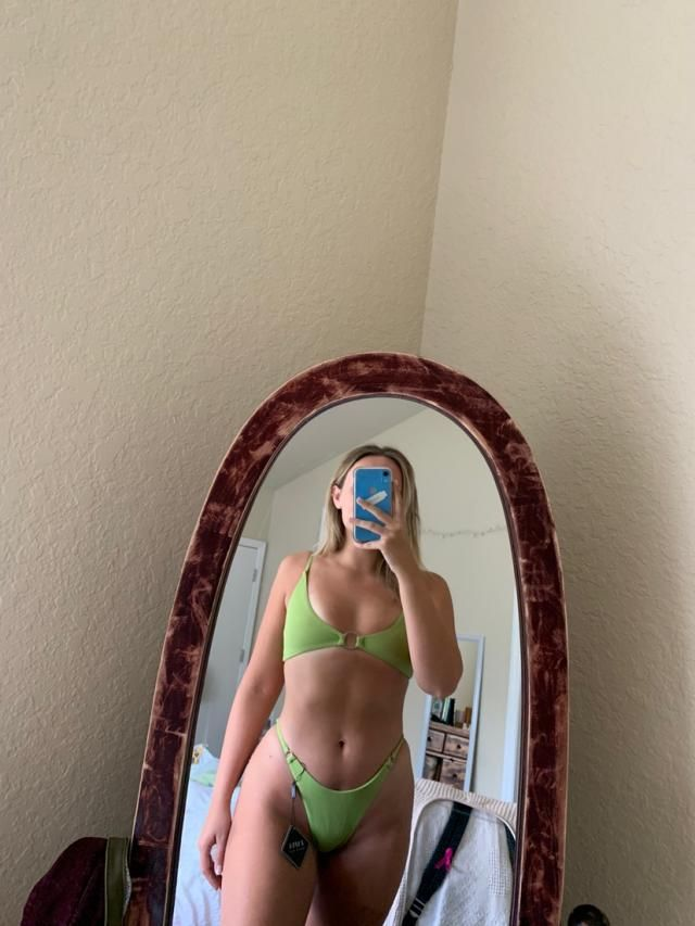 Favorite bikini I think I've ever bought! I mistakenly ordered a small after reading reviews to size down but I had to…