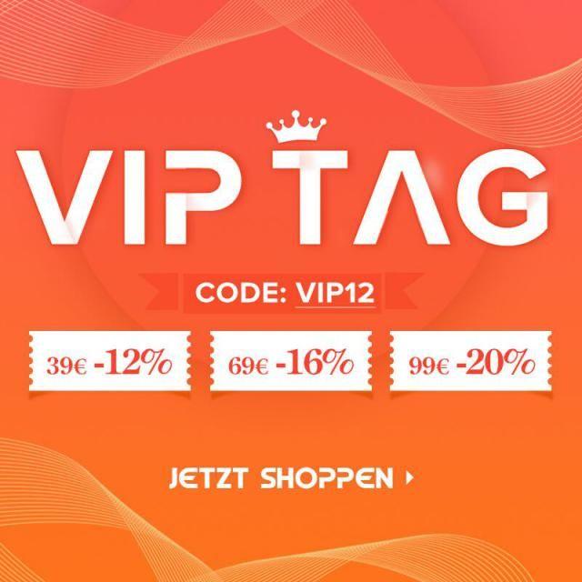 ZAFUL VIP TAG AM 8. - 10. JEDES MONATS GRATIS VERSAND AB 19€ + EXTRA 20% RABATT CODE: VIP12