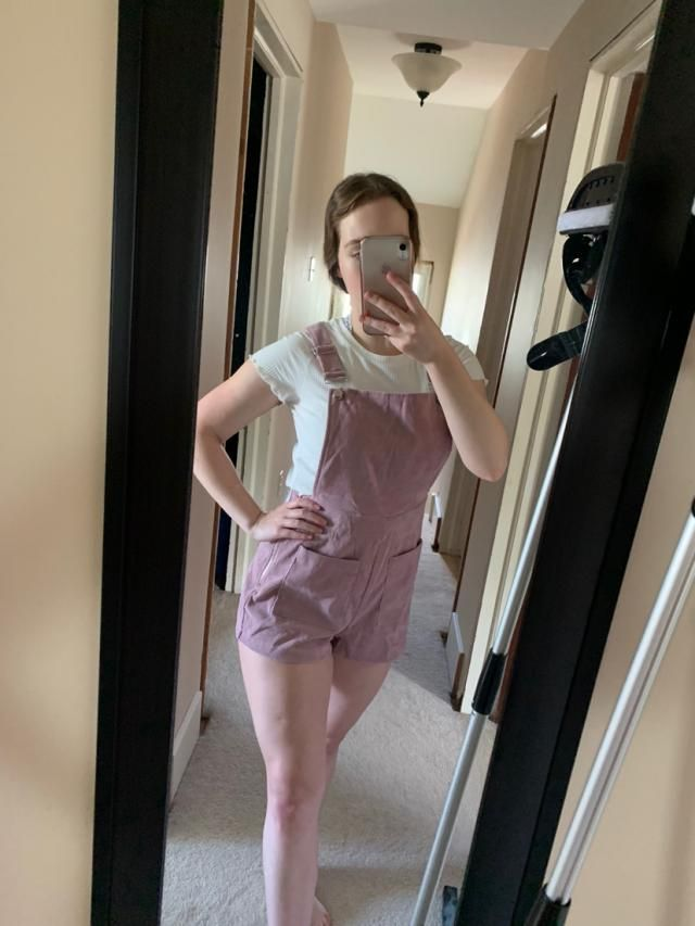 This outfit is very cute! I'm usually a size 6 US so I ordered a medium and both pieces fit very well. The overalls ar…