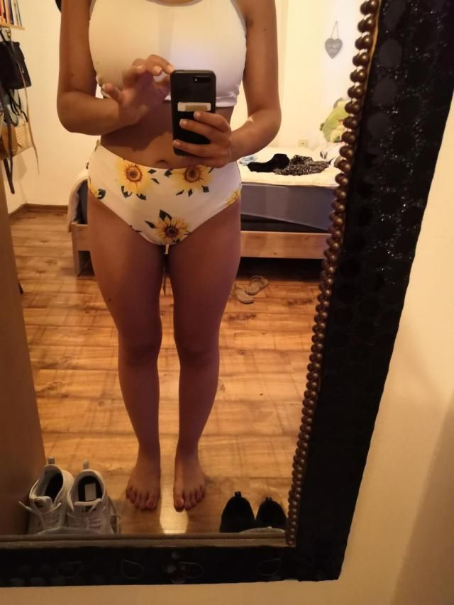 First of all, I love the fabric on a swimsuit! It fits well and has a great shape (feel comfortable in it, it holds ev…