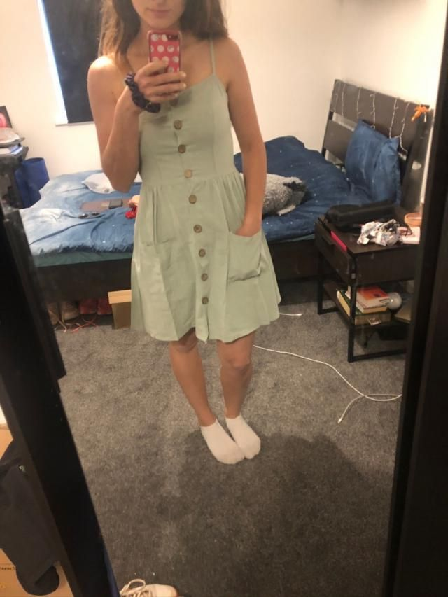 Love the dress, just what i expected. True to size as well