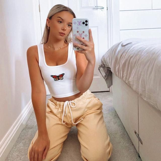 Trust the timing in your life 🦋Butterfly summer top!♥