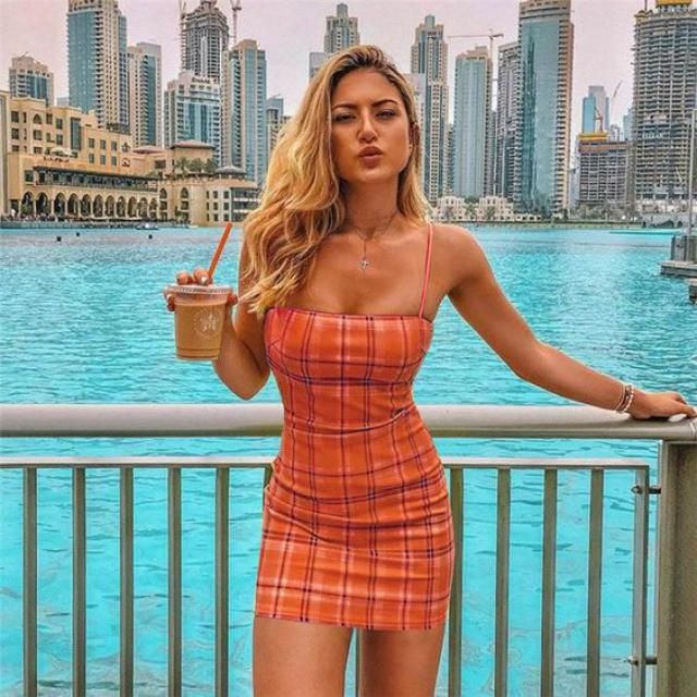 Cami Plaid Bodycon Dress     Perfect dresses for you.Trendy summer fashion. Shop at Zaful!