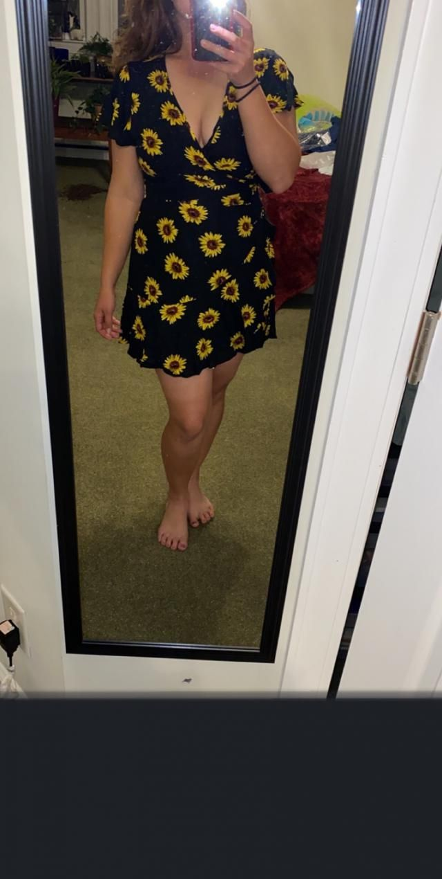 i love this dress. it's so comfy and silky feeling. You wrap it around you like a robe so you can adjust how tight or …