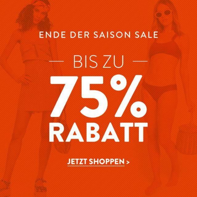 FINAL SALE!!!  Ende der Sommer, alles bis zu 75% Rabatt.