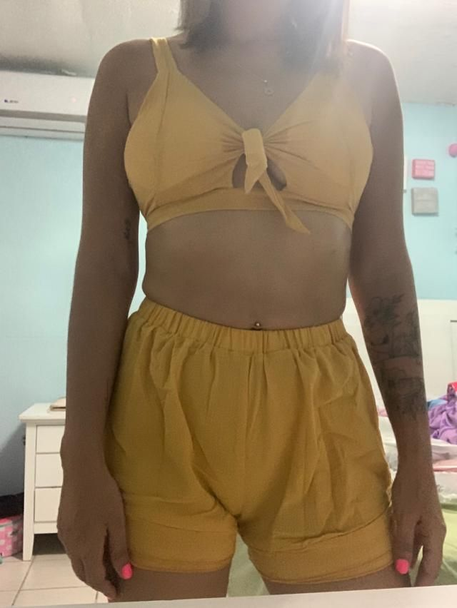 True to size, a little bit tight on the waist for my taste but it's really cute.