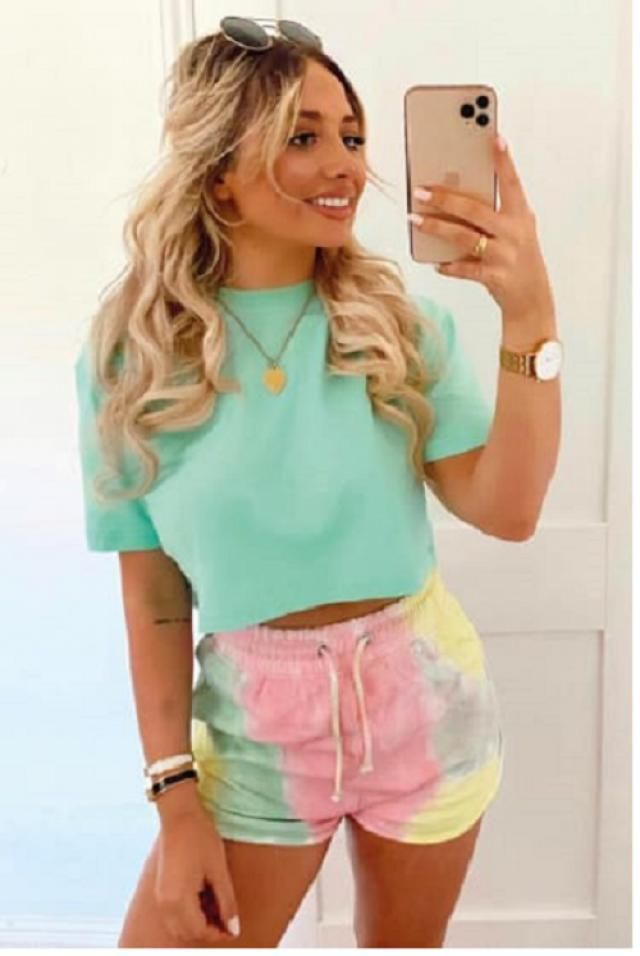 Neon Tie Dye Binding Shorts