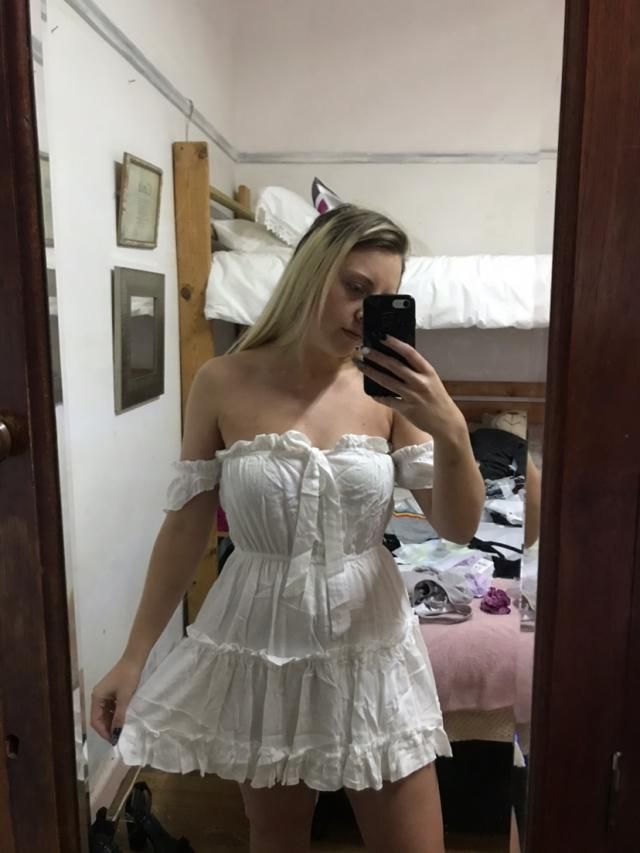 Love this dress a lot. Its very see through. I also ironed it and it looks a lot better. The dress is very short so I …