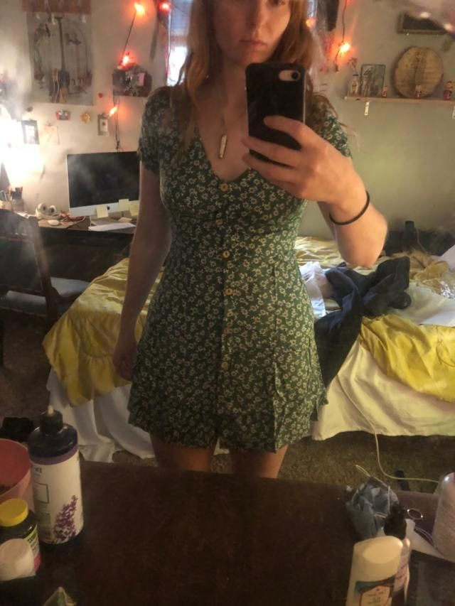 I usually wear a small or medium but this is a bit small on me.  It's also really short.  But the print is so cute and…