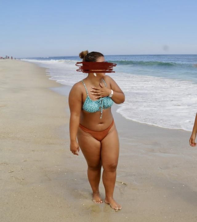 I love the design and the style of the bathing suit but it was a little big for me. I ordered a large and should've go…