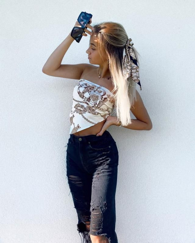 ♥GET THIS BANDANA TOP HERE IN ZAFUL, its unique, fancy and very stylish!♥