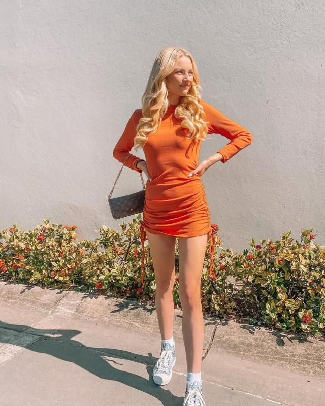 Orange its a fall color! get this pretty dress here in ZAFUL! ♥