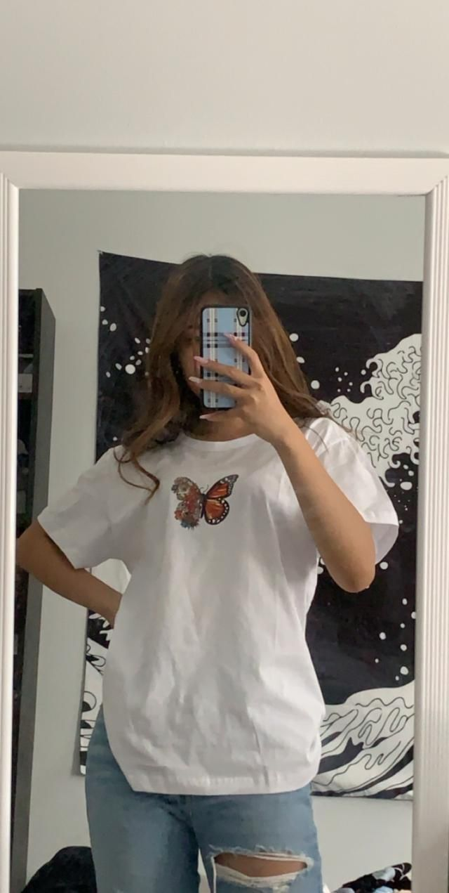 The fabric is very high quality and soft, super cute as an oversized tee.