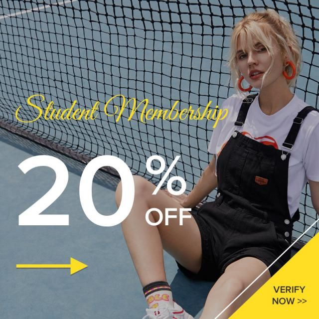 Student Membership Benefits: Extra 20% coupon a month  When you use this coupon, you will have a chance to get: Free sh…