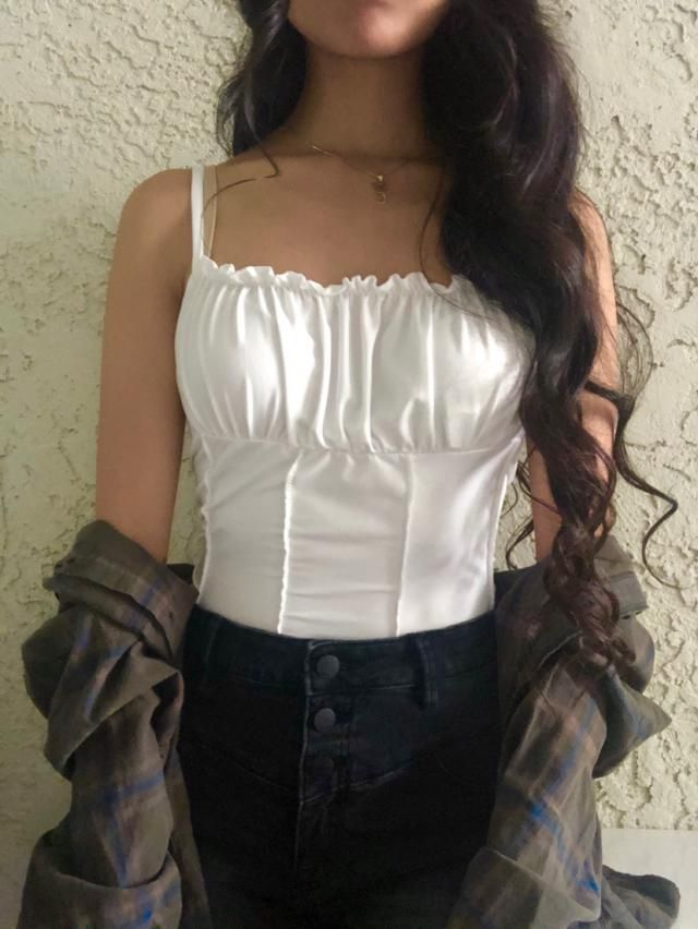 Love this top so much!! It's made from really nice material and it fits me perfectly! What I like most about it is tha…