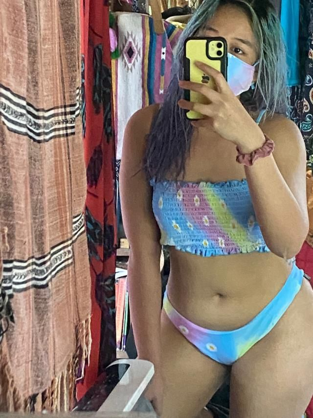 Love this bikini. Can't wait to wear! Comfortable and of fantastic material Fits well.