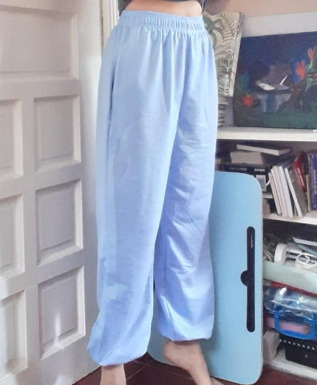 the fabric is comfy and flowy and its not too thick its just the right amount of thickness(?) but overall love it! I a…