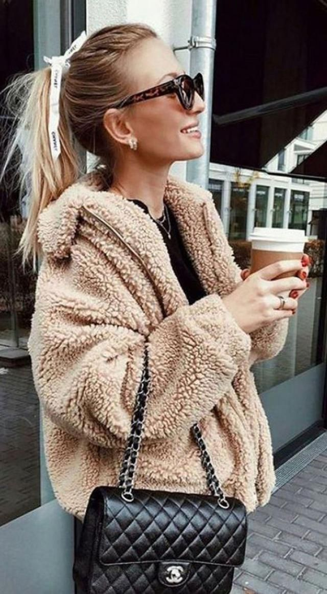 Slip Pockets Faux Fur Teddy Coat