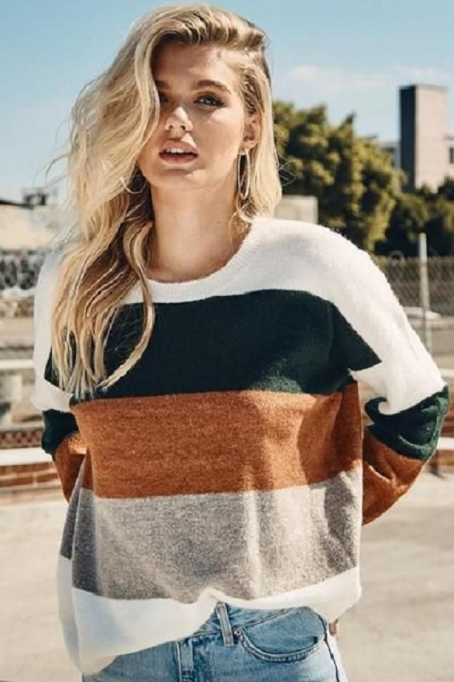 Buy these a perfect striped sweater from Zaful. A perfect fall fashion. Shop at Zaful!