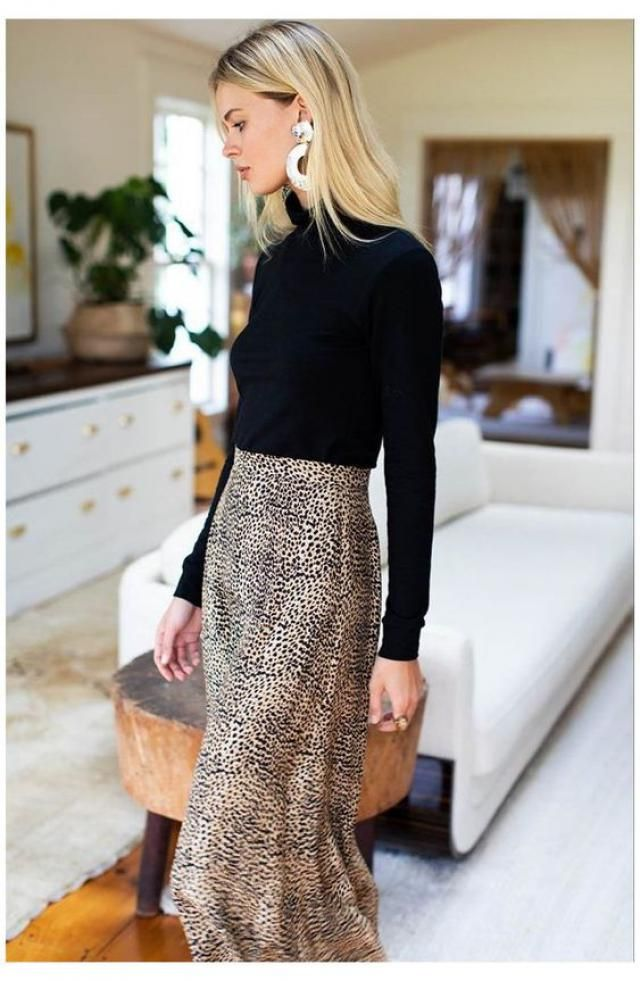 Pullover Mock Neck Plain Slim Sweater  A perfect slim sweater with leopard print skirt from  Zaful..