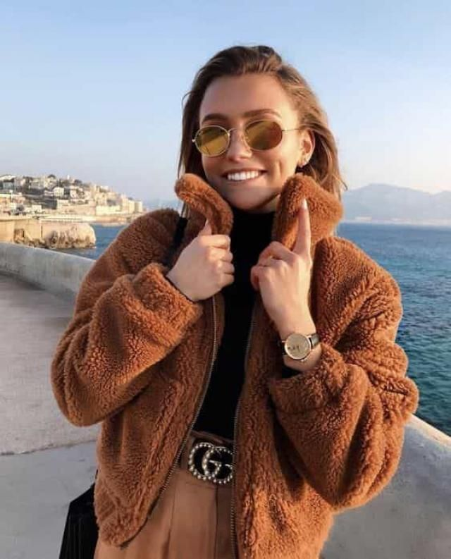 ZAFUL Zip Up Faux Shearling Pocket Teddy Coat   Buy these gorgeous teddy jacket and coats  from Zaful. A perfect fall…