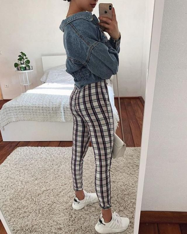 A perfect plaid pants and jacket  from Zaful.