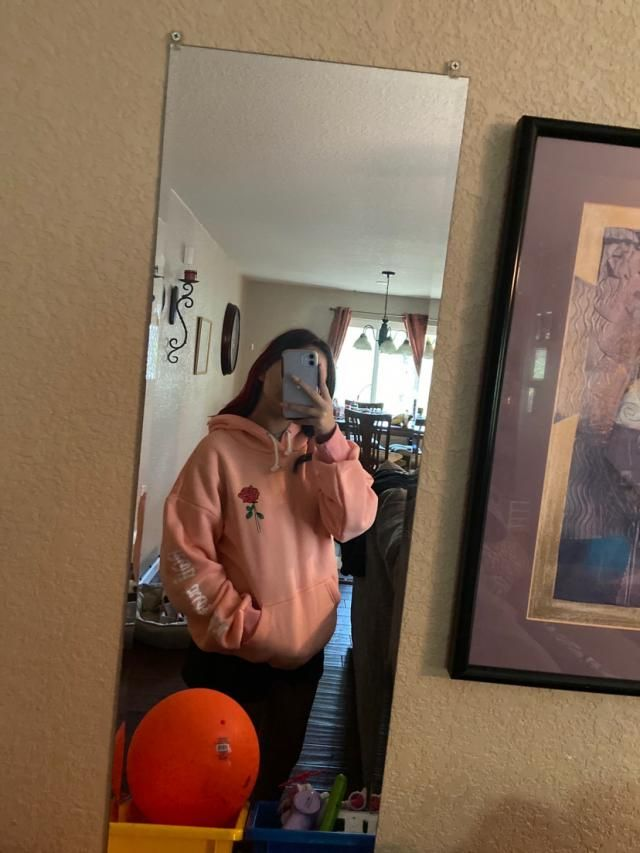 it is super soft and thick perfect for hoodie season! it's oversized which is good bc i like oversized things but over…