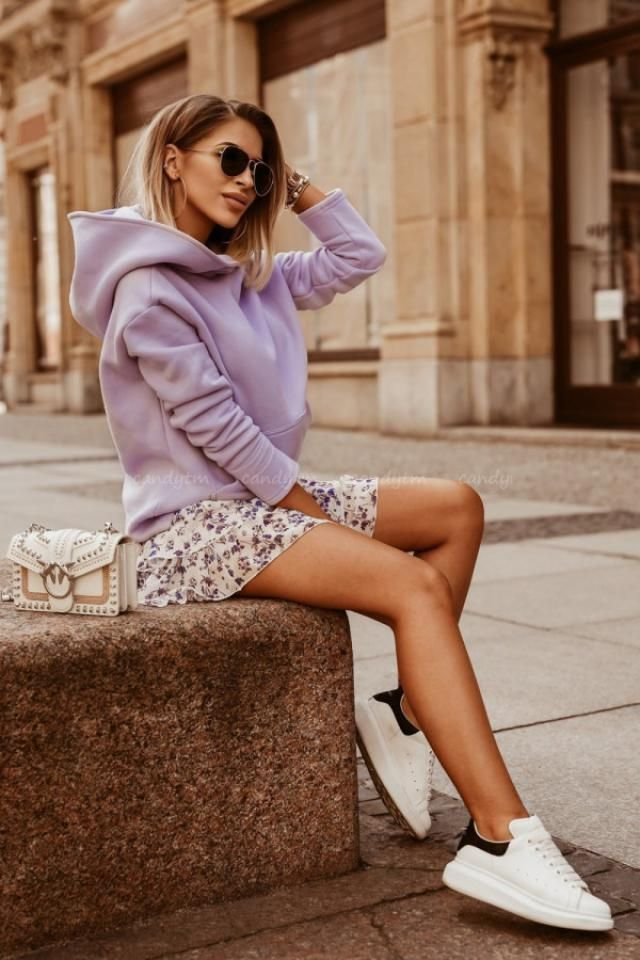 ZAFUL Flower Print Kangaroo Pocket Pullover Hoodie Wonderful hoodie ,colection of clothes for autumn and winter in Zaf…