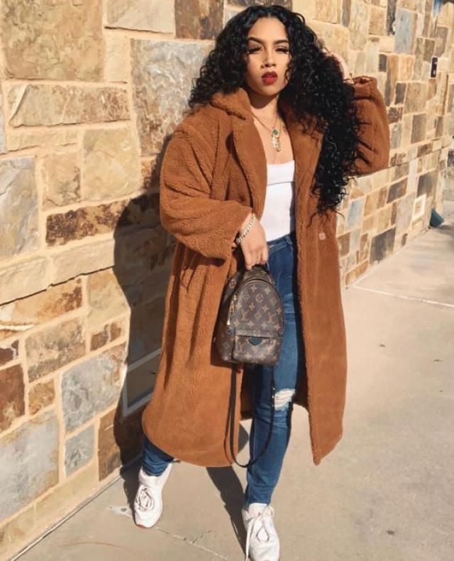 Open Front Faux Shearling Longline Teddy Coat