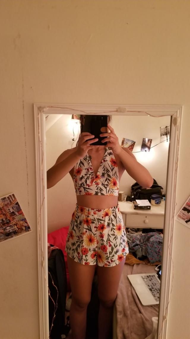 Cute design! Top is a tiny bit big, but it might just because I wasn&;t wearing a bra.