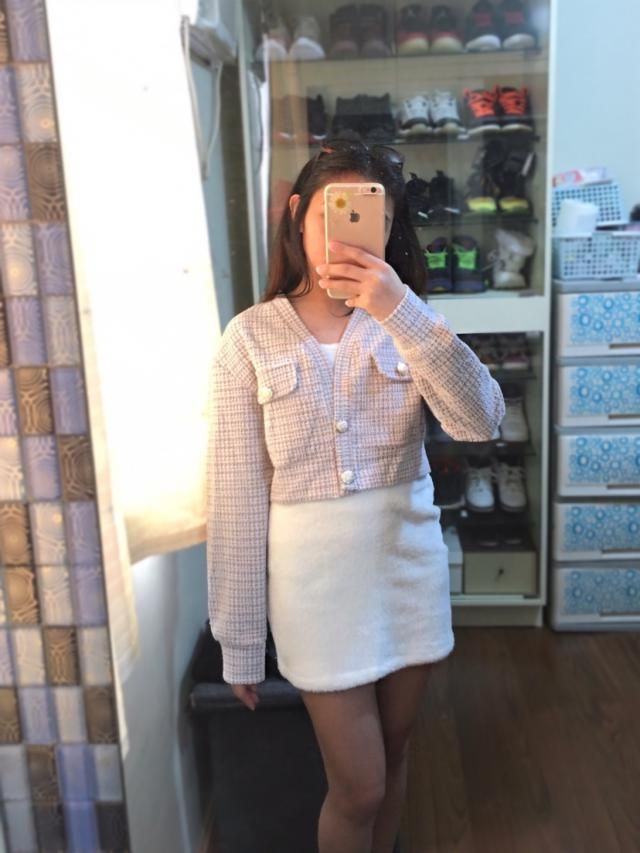 so in love with this tweed blazer. can\\&;t go wrong on buying this. bought it even though it\\&;s loose to me. it\\&;…
