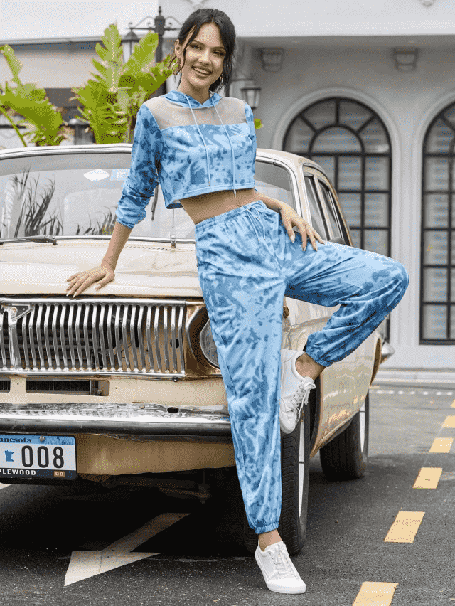 Tie Dye Two Piece Set Wonderful tie dye pants set ,colection of clothes for autumn and winter in Zaful.