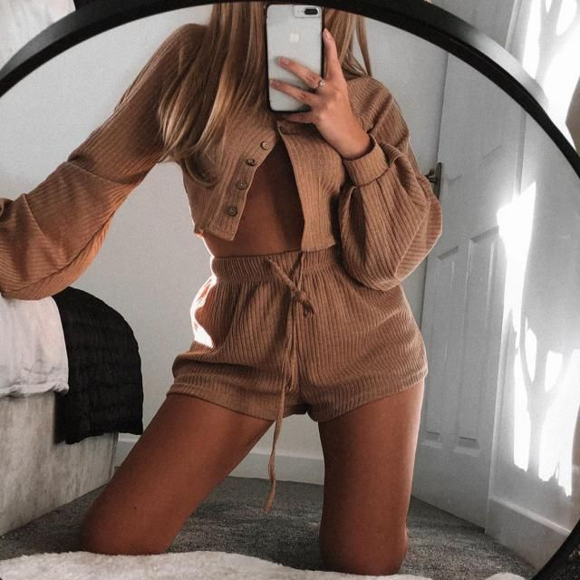Pretty warm and cozy outfit! get this cute fall house outfit here in ZAFUL!♥