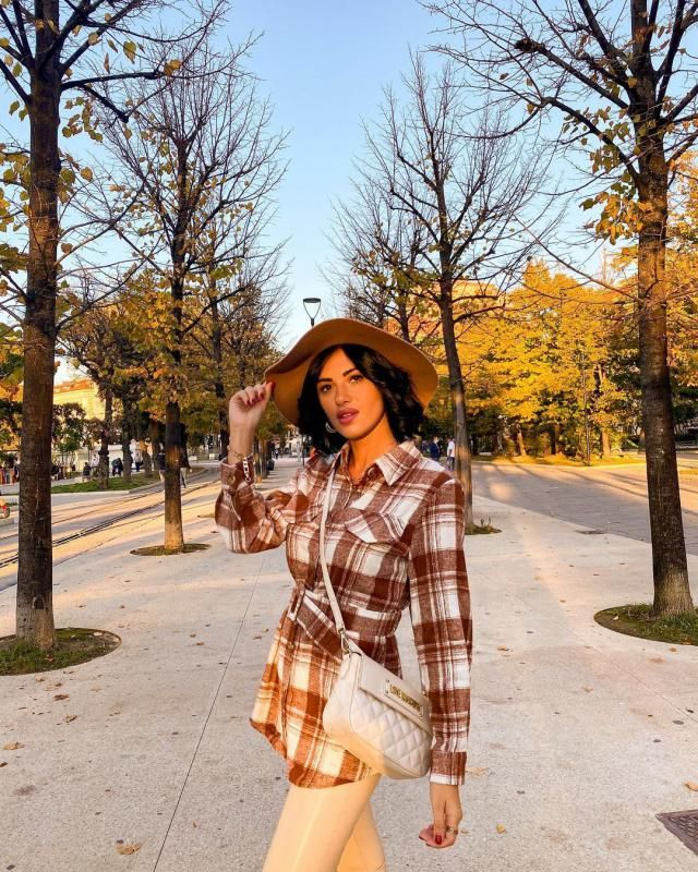 I love this Plaid Belted Mini Dress! and coffee is autumn color! do you like autumn colors? get this cute dress/jacket …