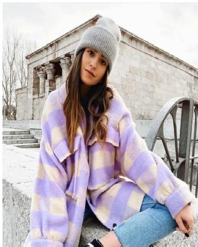 ZAFUL Checkered Drop Shoulder Pocket Coat   Buy these gorgeous plaid coats and leggings from Zaful. A perfect fall an…