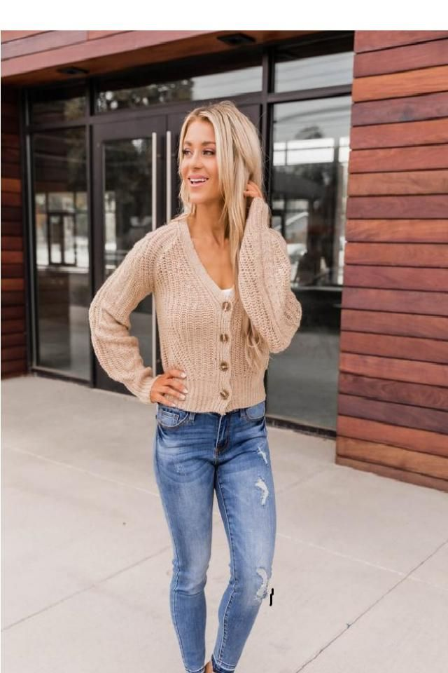 Drop Shoulder Openwork V Neck Cardigan Fantastic cardigan with jeans. Buy Here ! Large selection of clothes for autumn…