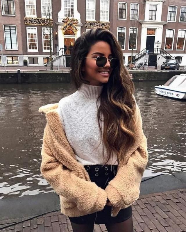 Fluffy Zip Up Winter Teddy Coat  Wonderful teddy coat with skirts, only in Zaful.