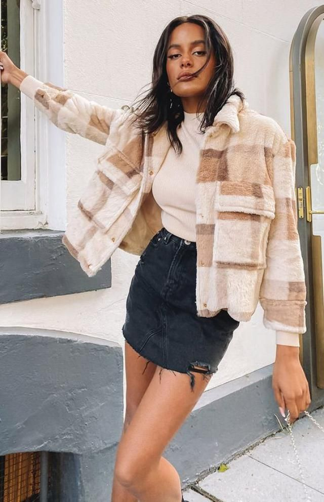 ZAFUL Plaid Drop Shoulder Pocket Teddy Coat    A perfect fall fashion. Shop at Zaful!