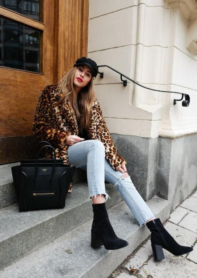 Wonderful teddy coat with jeans, only in Zaful.