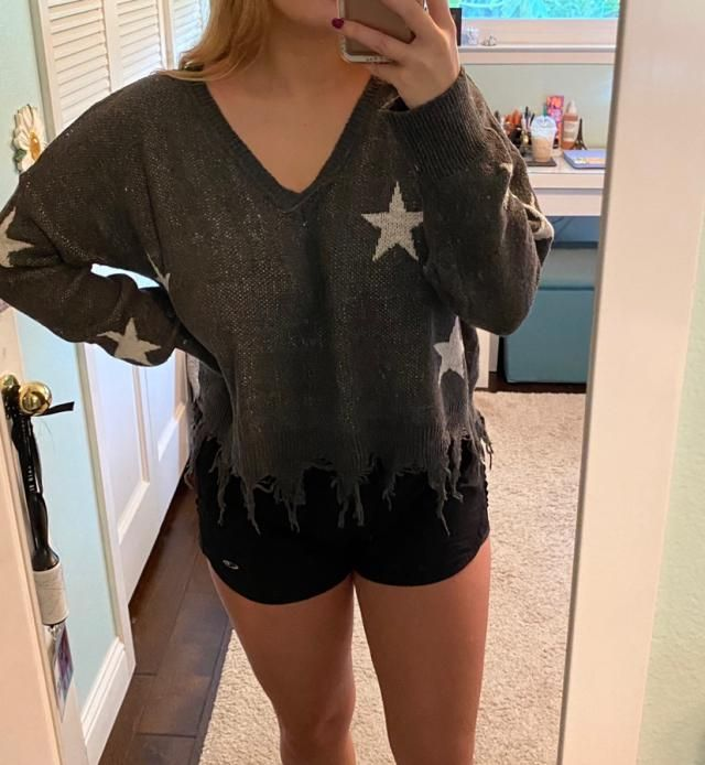 super cute & cozy, but the material is kind of scratchy! it fits well, but the sleeves are a little long, so i…