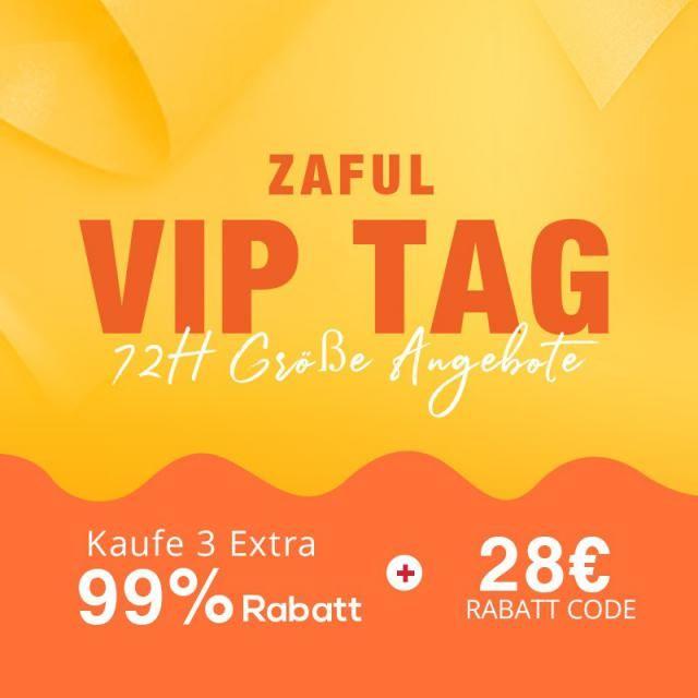 ZAFUL VIP TAG 08. - 11. November, Nur 3 Tag! Rabatt Code: 12VIP  (gültig ab 08. Nov.)