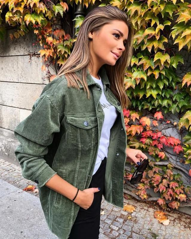 ZAFUL Corduroy Drop Shoulder Pocket Hooded Jacket  Wonderful corduroy  jackets ,colection of clothes for autumn and wi…