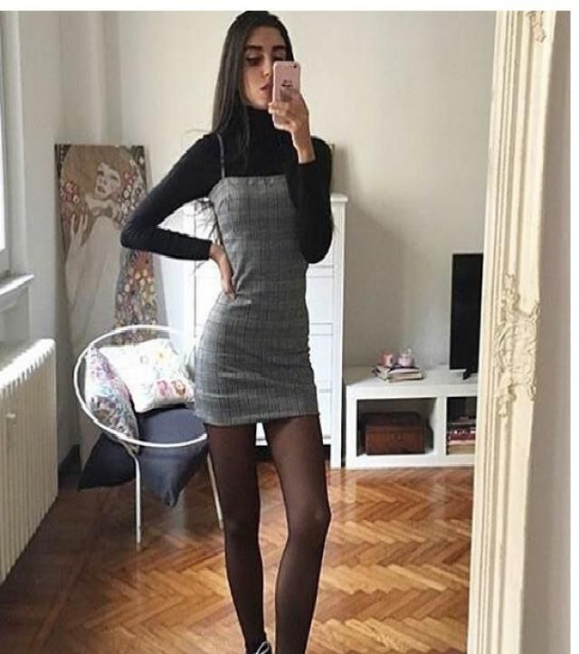 Houndstooth Bodycon Cami Dress With Rib Top  A perfect cami dress with rib top  from Zaful. Shop at Zaful!