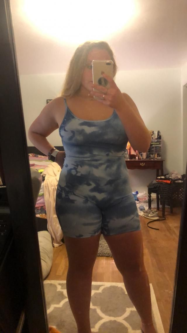 Super cute! great material! Thighs are a little tight, but still fit.