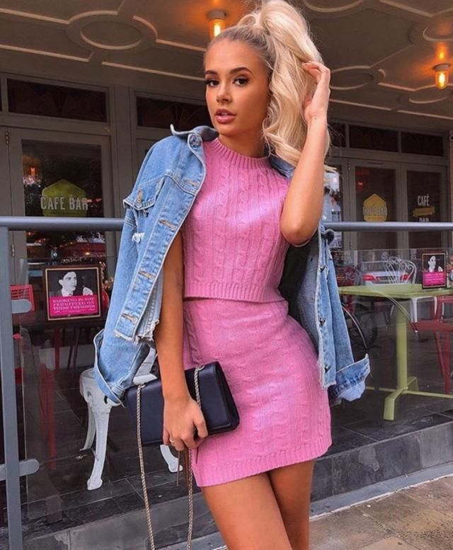Ripped Knitted Crew Neck Two Piece Dress Wonderful knitted two piece dress , clothes for autumn and winter in Zaful. …
