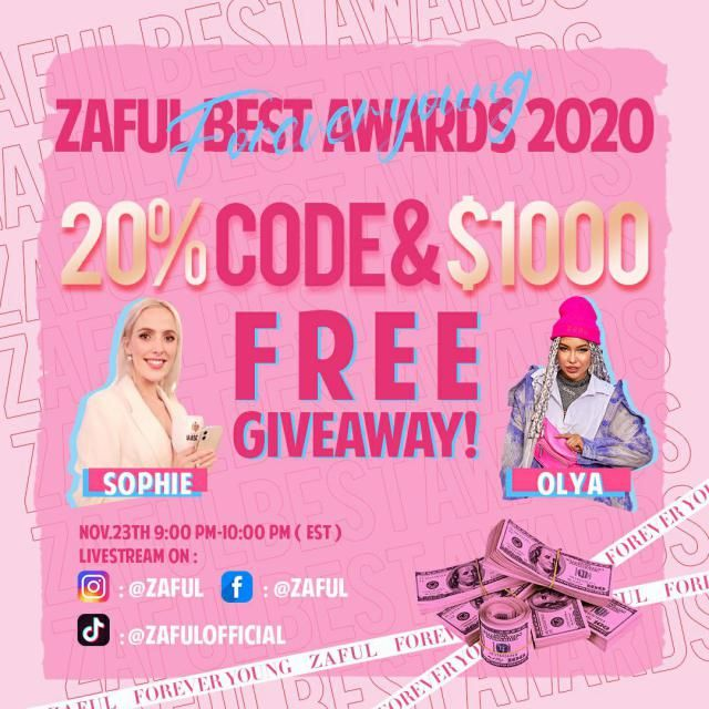 You've heard it here first!  We are giving away $1000 ZAFUL products and release a 20% OFF code! ZAFUL is live-streamin…