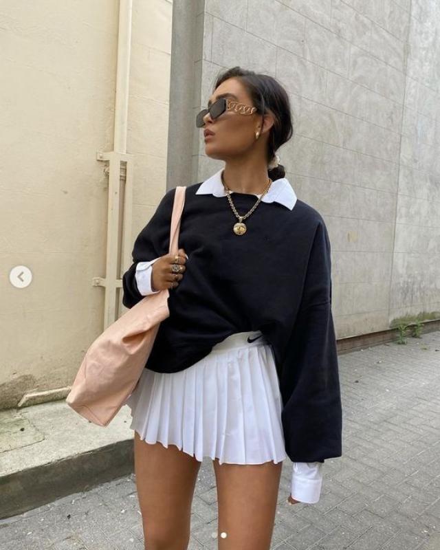 ZAFUL High Waist Pleated Mini Skirt