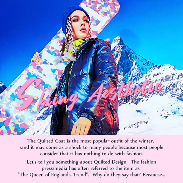 【Skiing Aesthetic】 Baby it&;s cold outside,you need a Quilted Coat! Check this lookbook, comment below your fave one an…