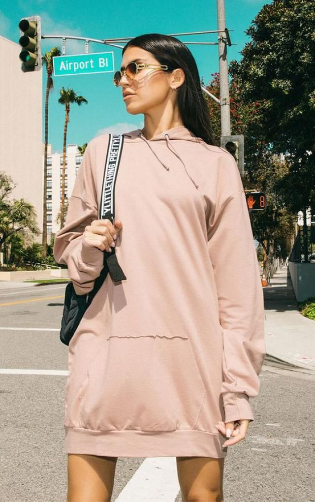 Ripped Slip Pocket Long Sleeve Hoodie Dress  A perfect mini hoodie dresses from Zaful. Shop at Zaful!