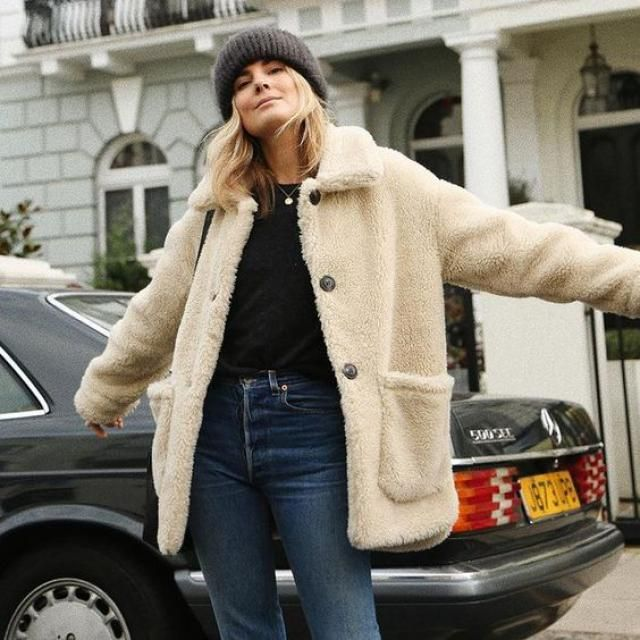 Solid Mock Flap Pocket Teddy Jacket   Buy these gorgeous teddy coats from Zaful. A perfect fall and winter fashion. S…